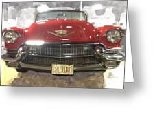 56 Red Cadillac Greeting Card