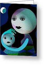 569 - Moonmotherchild Greeting Card