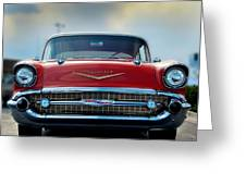 57 Chevy Full Frontal Greeting Card