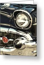 57 Chevy Headlight Greeting Card
