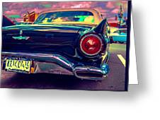 57 Ford T Bird Tail Greeting Card