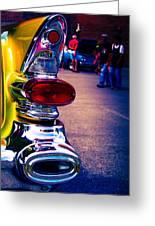 57 Pontiac Tail Light Greeting Card