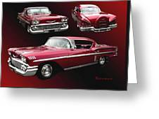 '58 Chevy Impala Greeting Card
