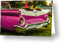 59 Ranchero With Surfboards Greeting Card
