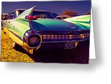 '59cadillac Fins Greeting Card