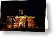 5am At Port Hope Town Hall Greeting Card