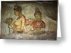 5th Century Cave Frescoes Greeting Card