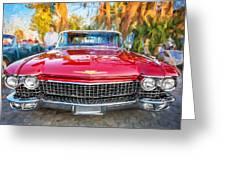 1960 Cadillac Eldorado Biarritz Convertible Painted  Greeting Card