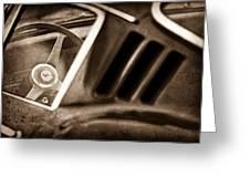 1966 Ferrari 275 Gtb Steering Wheel Emblem Greeting Card