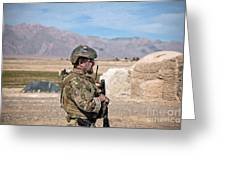A Coalition Force Member Maintains Greeting Card