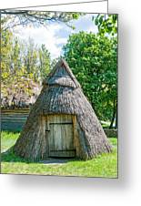 A Typical Ukrainian Antique Hut Greeting Card