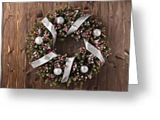 Advent Christmas Wreath Decoration Greeting Card