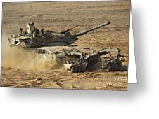 An Israel Defense Force Merkava Mark II Greeting Card