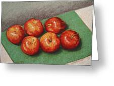 6 Apples Washed And Waiting Greeting Card