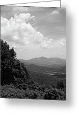Blue Ridge Mountains - Virginia Bw 3 Greeting Card