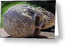 Celtic Skulls Symbolic Pathway To The Other World Greeting Card