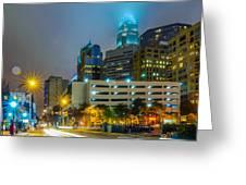 Charlotte City Skyline  Greeting Card