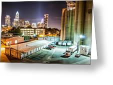 Charlotte City Skyline Night Scene Greeting Card