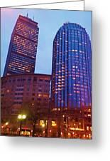 city of Boston Greeting Card