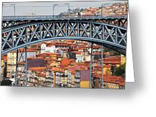 City Of Porto In Portugal Greeting Card
