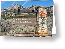 City Of Rocks Greeting Card