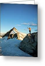 Climbing Cypress Peak Greeting Card