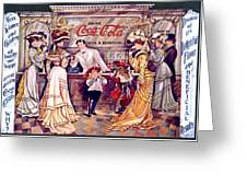 Coca - Cola Vintage Poster Greeting Card