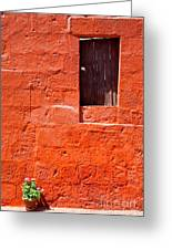 Colorful Old Architecture Details Greeting Card