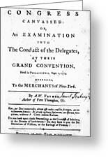Continental Congress, 1774 Greeting Card