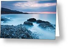Blue Crete. Greeting Card