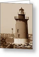 Delaware Breakwater Lighthouse Greeting Card