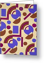 Design From Nouvelles Compositions Decoratives Greeting Card