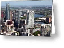 Downtown Austin Texas  Greeting Card