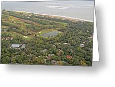 East Coast Aerial Near Jekyll Island Greeting Card
