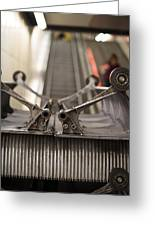 Escalator Construction Works Greeting Card