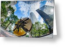Financial Skyscraper Buildings In Charlotte North Carolina Usa Greeting Card