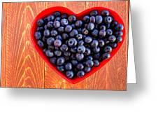 Fresh Picked Organic Blueberries Greeting Card