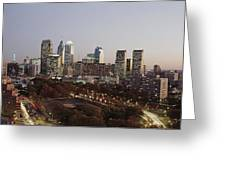 High Angle View Of A City Greeting Card