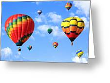 Hot Air Balloons Greeting Card