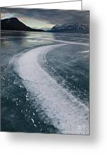 Ice Pattern On Frozen Abraham Lake Greeting Card