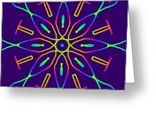 Kaleidoscope Drawing Greeting Card