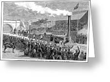 Locomotive Rocket, 1829 Greeting Card