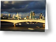 London  Skyline Waterloo  Bridge Greeting Card