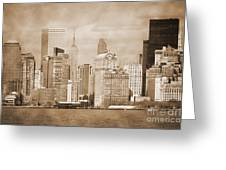 Manhattan Buildings Vintage Greeting Card