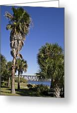 Melbourne Causeway To Indialantic In Central Florida From Geiger Greeting Card