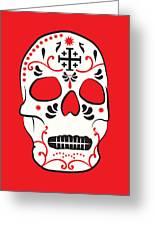 Mexican Sugar Skull For Dia De Los Muertos Greeting Card