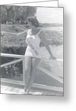 Miss Florida 1960 Greeting Card