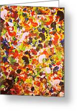 Modern Abstract Painting Original Canvas Art Twister By Zee Clark Greeting Card