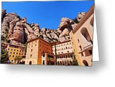 Monastery In Montserrat Greeting Card