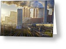 Neurath Power Station Germany Greeting Card by David Davies